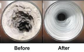 dryer duct exhaust cleaning illustration